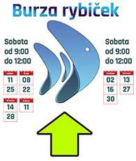 směrová tabule na Burzu rybiček